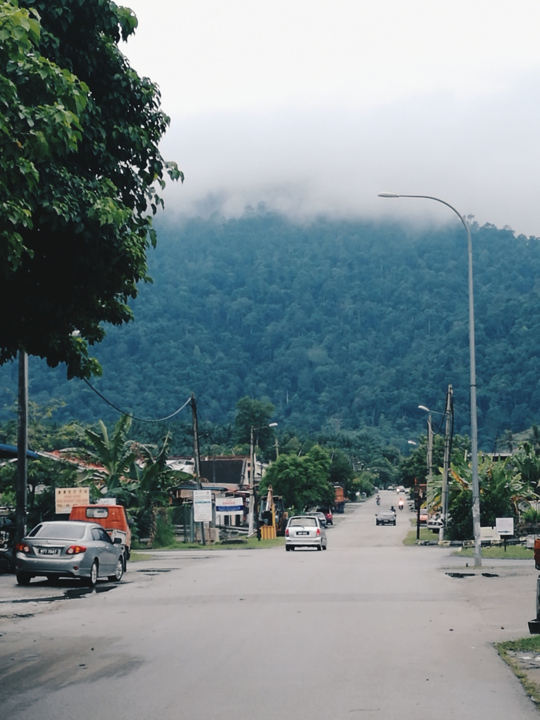 Taman Simpang Pertang, right under the big mountain