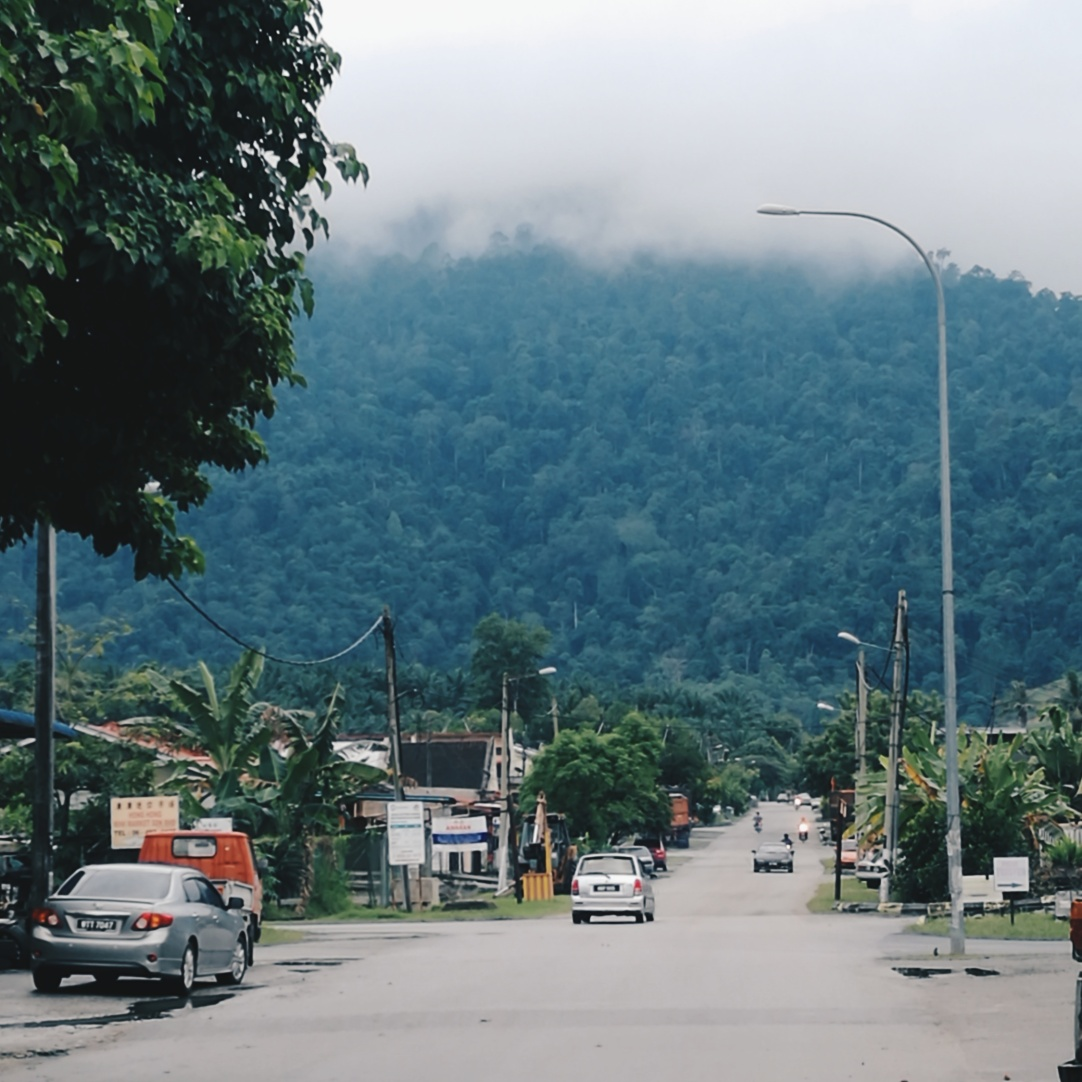 Taman Simpang Pertang, right under the big mountain